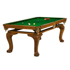 Oak Billiard, Snooker, Pool Table, Dinning Table by Riley
