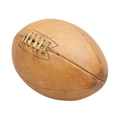 Vintage Sykes Rugby Ball, Perfection in Leather