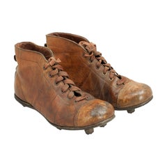 Vintage Leather Football Boots or Rugby Boots