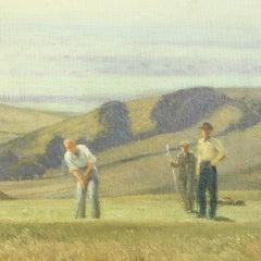 Golf Painting, East Brighton Golf Club, Conrad Leigh, Oil on Canvas