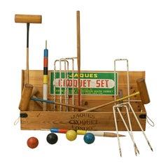 Vintage Boxed Croquet Set, Jacques, Benetfink