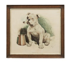 Antique Print of a Bulldog after Cecil Aldin, That's Bully, circa 1900