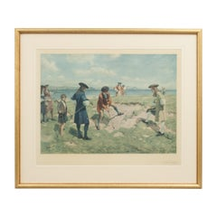 Golf Print, First International Foursome after Allen Stewart, Leith Links