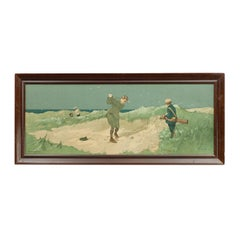 Vintage Golf Print by John Hassall, Bunkered