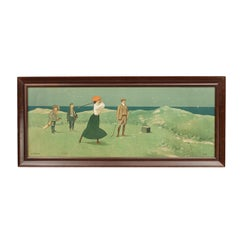 Vintage Golf Print by John Hassall