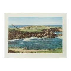 Cypress Point Golf Print, Arthur Weaver