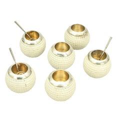 Antique Gutty Golf Ball Salts