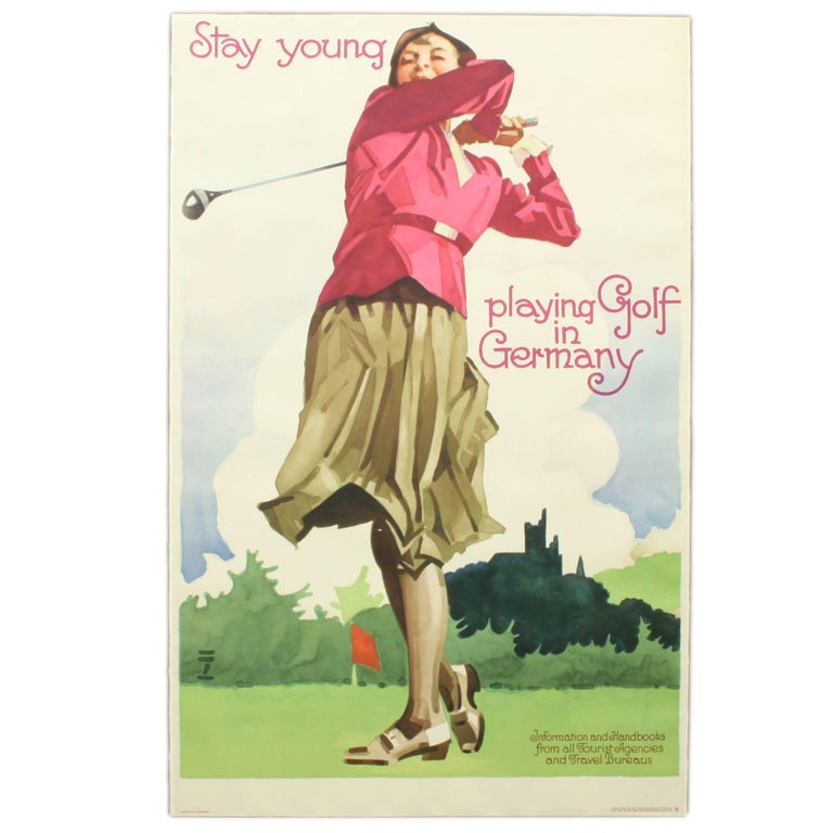 Golf Poster, Golf in Germany For Sale
