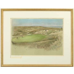 "Golf Print, Royal St. George's, ""The Maiden"" Green Sandwich"