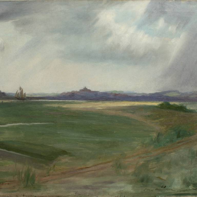 A fine golf painting,