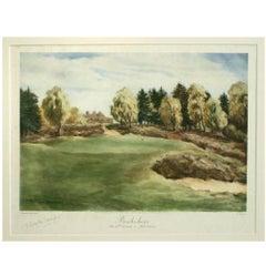 Vintage Golf Print 'The Royal Berkshire'