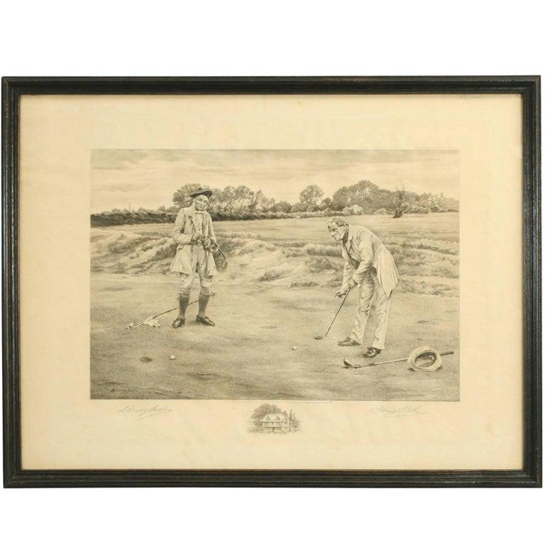 Vintage Golf Print 'The Stymie'