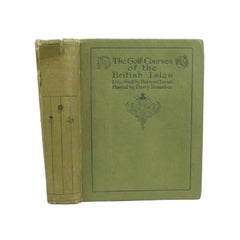Antique Golf Book, The Golf Courses of the British Isles, by Bernard Darwin