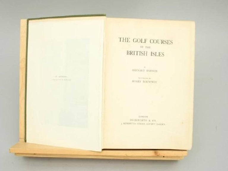 Sporting Art Antique Golf Book, The Golf Courses of the British Isles, by Bernard Darwin For Sale