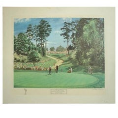 Play on the 6th Green, the Masters 1968 by Arthur Weaver