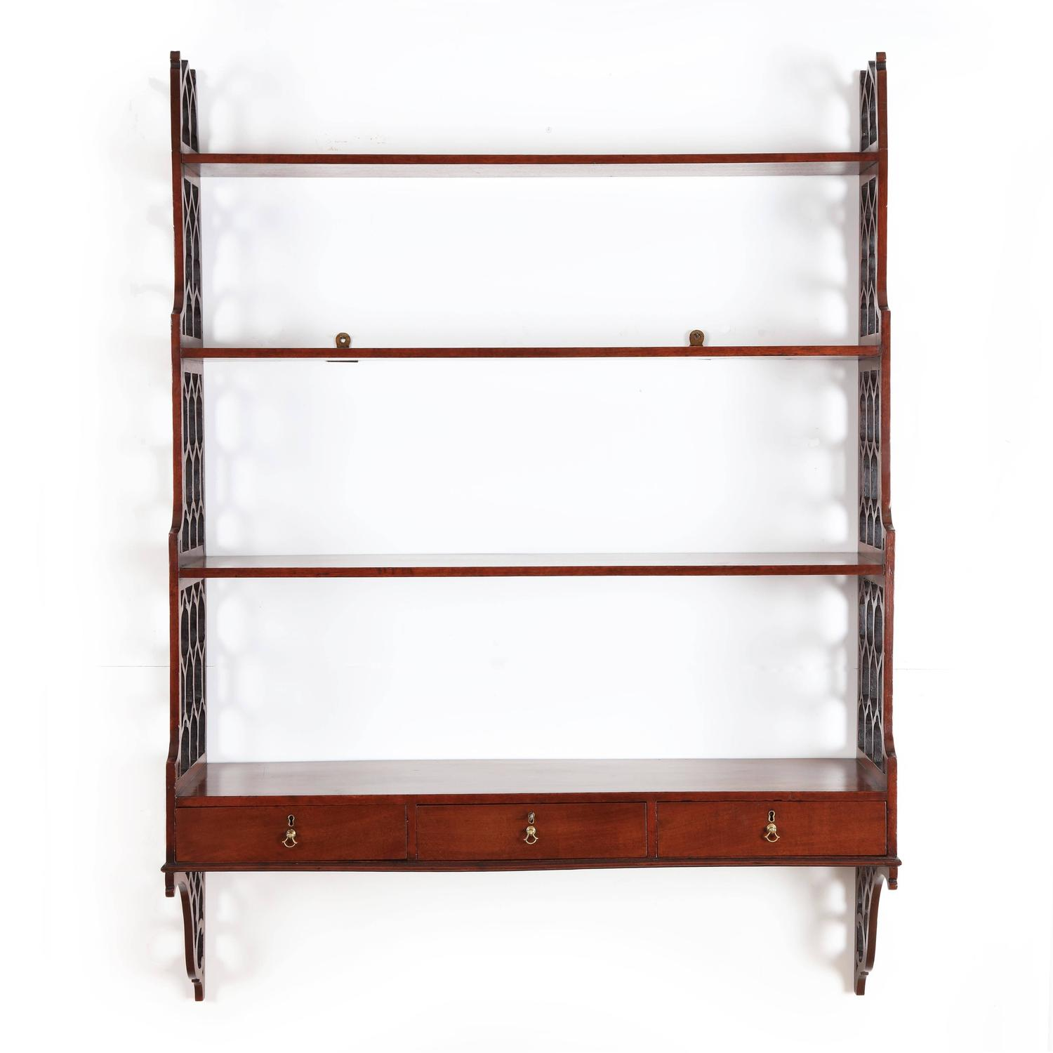 george iii chippendale period mahogany wall shelves for. Black Bedroom Furniture Sets. Home Design Ideas