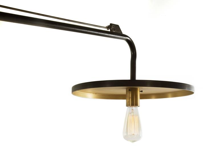 Luminaire, Monumental Custom Adjustable Four-Light Chandelier, circa 1980s 7
