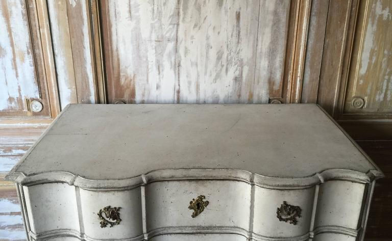 Hand-Crafted 18th Century Danish Rococo Period Chest For Sale