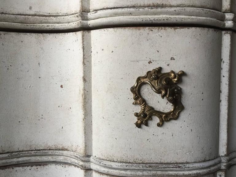 Oak 18th Century Danish Rococo Period Chest For Sale