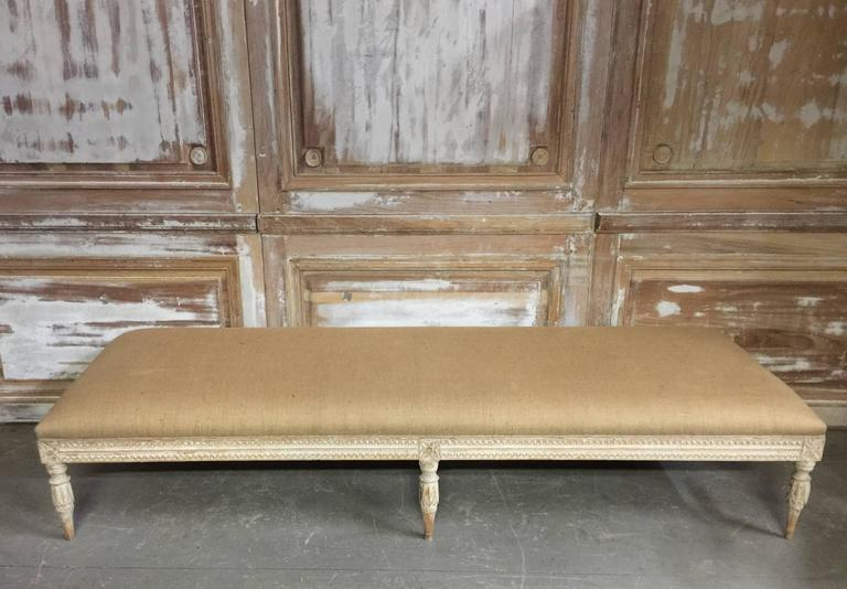 Hand-Carved Swedish Period Gustavian Daybed For Sale