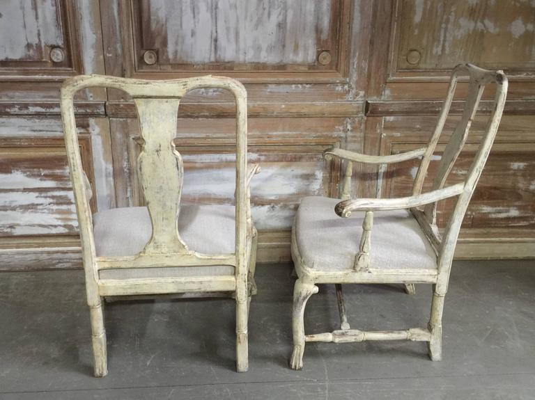 Pair of 18th Century Swedish Period Rococo Chairs 2