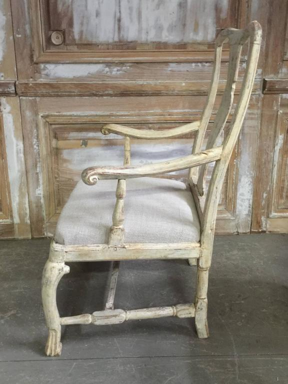Pair of 18th Century Swedish Period Rococo Chairs 3