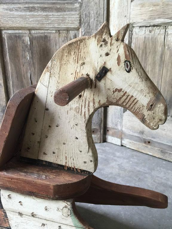 Swedish Wooden Toy Horse Rocker At 1stdibs