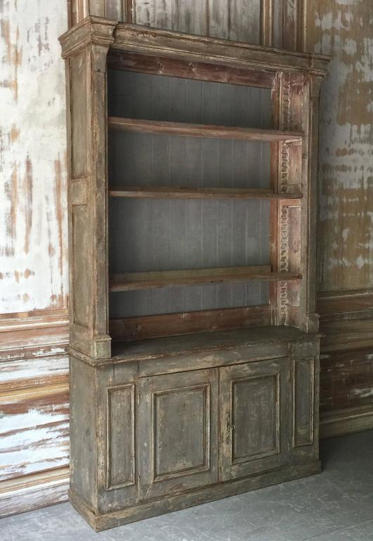 painted french biblioth que in original paint at 1stdibs. Black Bedroom Furniture Sets. Home Design Ideas