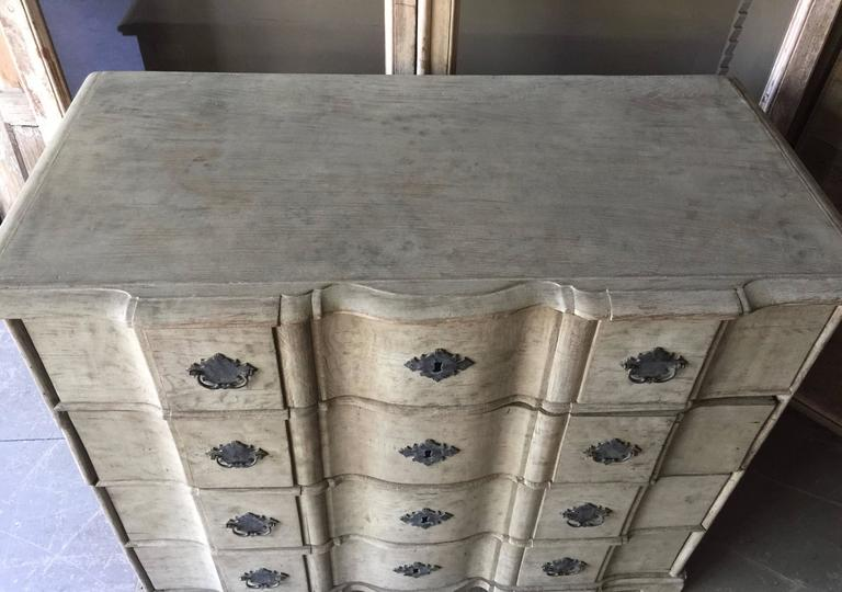 Hand-Carved 19th Century Danish Chest of Drawers For Sale