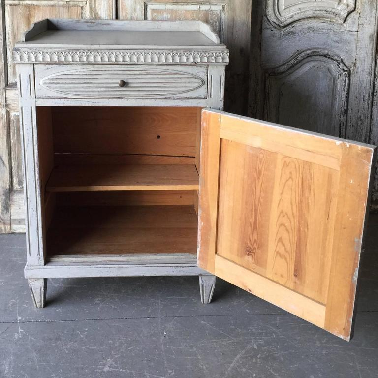 Hand-Carved 19th Century, Swedish Gustavian Cabinet For Sale