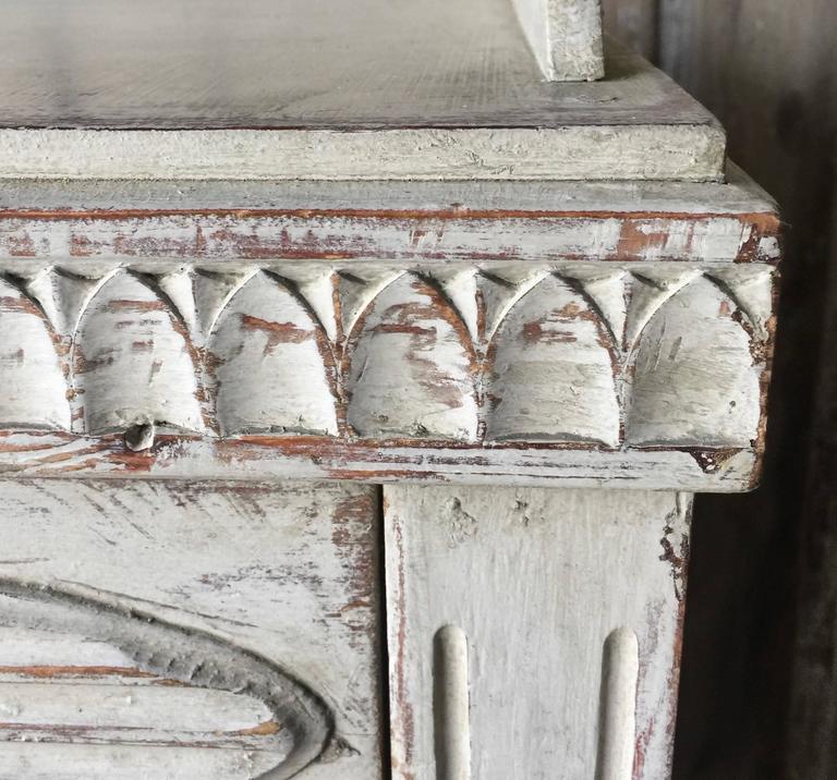 Pine 19th Century, Swedish Gustavian Cabinet For Sale