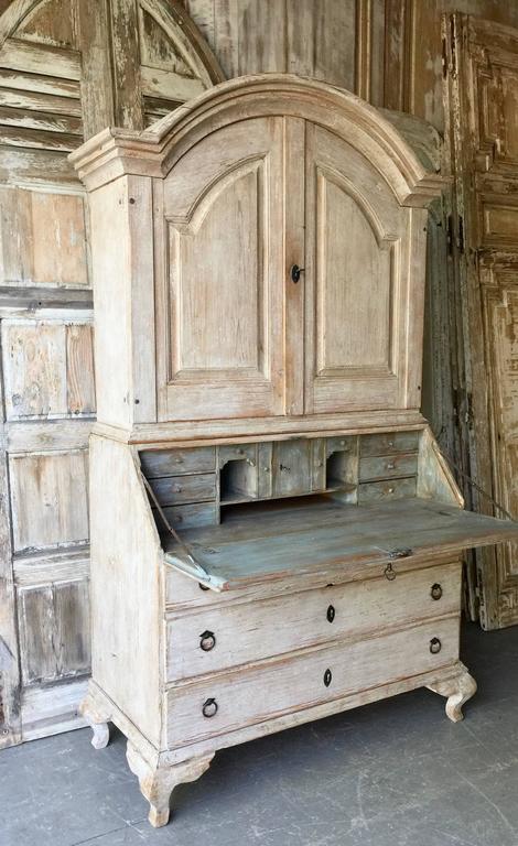 18th Century Period Swedish Rococo Secretaire Cabinet 2