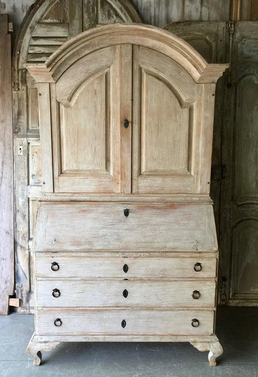 18th Century Period Swedish Rococo Secretaire Cabinet 3