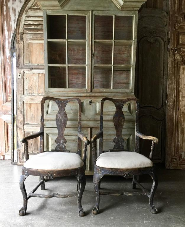 Pair of 18th Century Swedish Period Rococo Armchairs 2