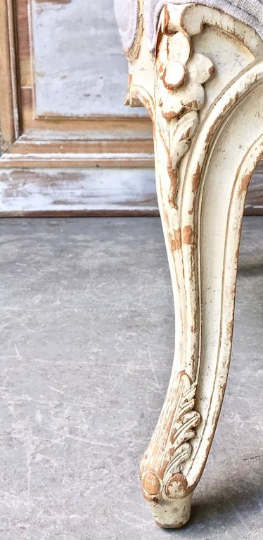 19th Century Louis XV Style Painted French Marquise 9