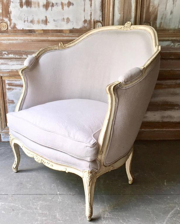 19th Century Louis XV Style Painted French Marquise 2