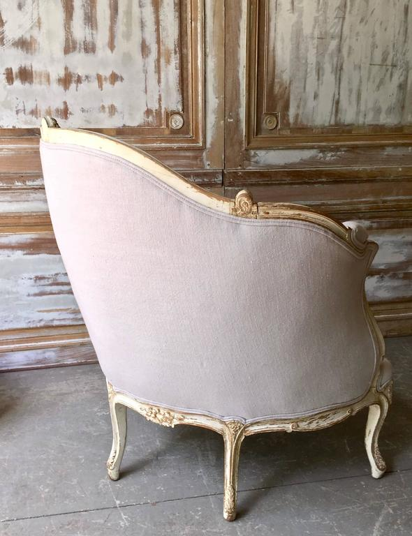 19th Century Louis XV Style Painted French Marquise 5