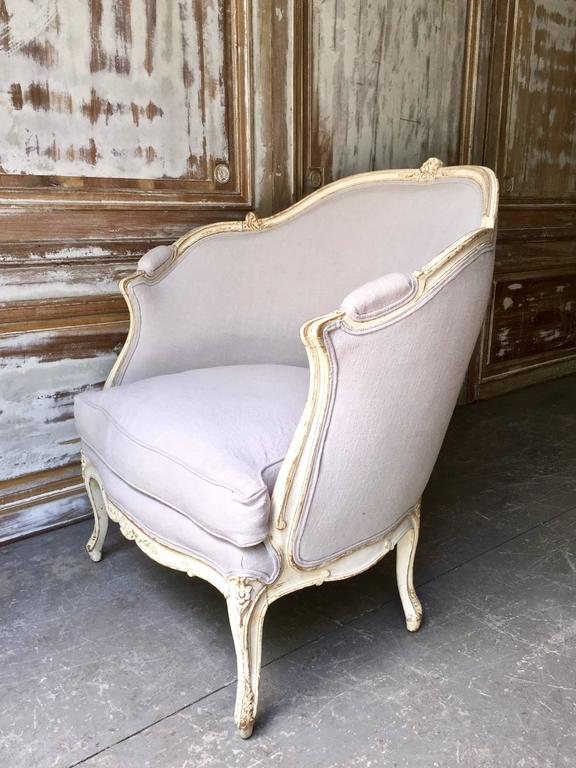 19th Century Louis XV Style Painted French Marquise 4