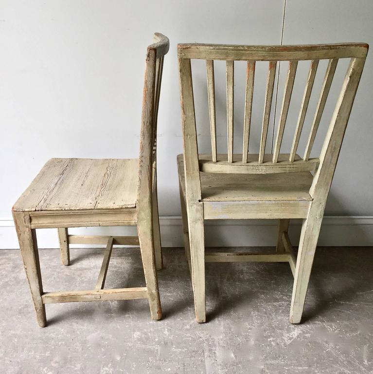 Pine Set of Six Swedish 19th Century Side Chairs For Sale