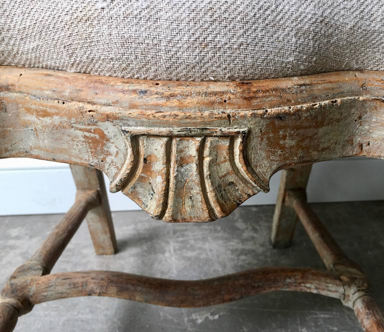 Set of Four 18th Century Rococo Period Swedish Chairs For Sale 1