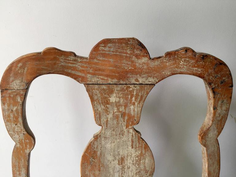 18th Century and Earlier Set of Four 18th Century Rococo Period Swedish Chairs For Sale