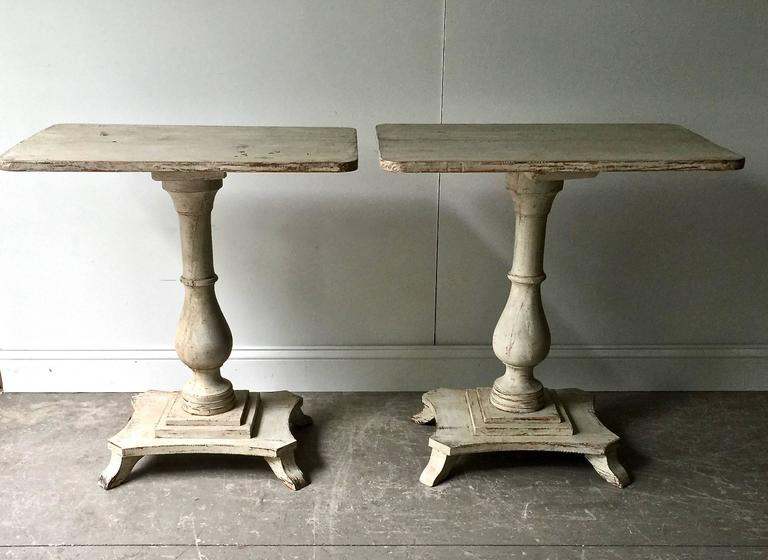 Hand-Carved Pair of Swedish Period Karl Johan Pedestals For Sale