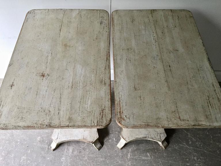 Pair of Swedish Period Karl Johan Pedestals In Good Condition For Sale In Charleston, SC