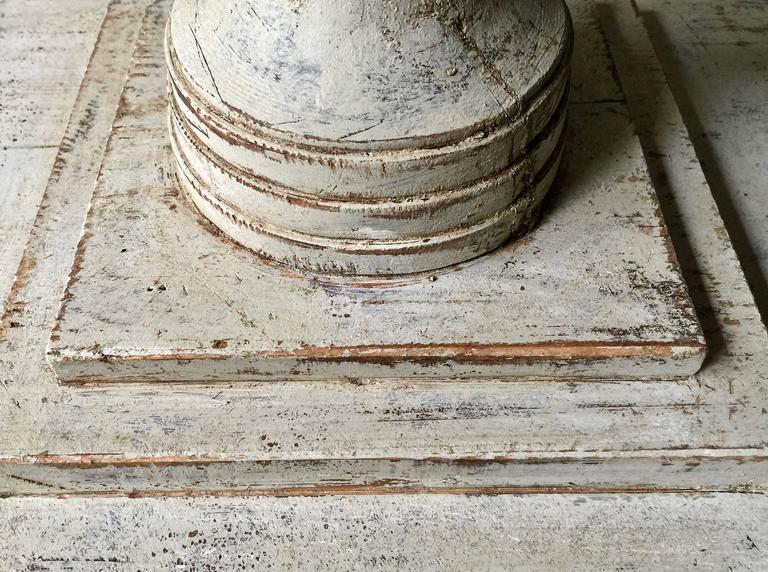 Pine Pair of Swedish Period Karl Johan Pedestals For Sale