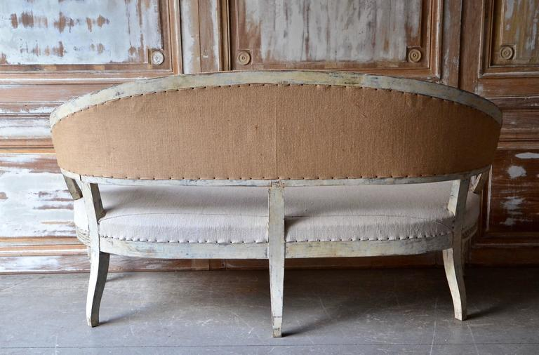 19th Century, Swedish Barrel Back Sofa Settee 3