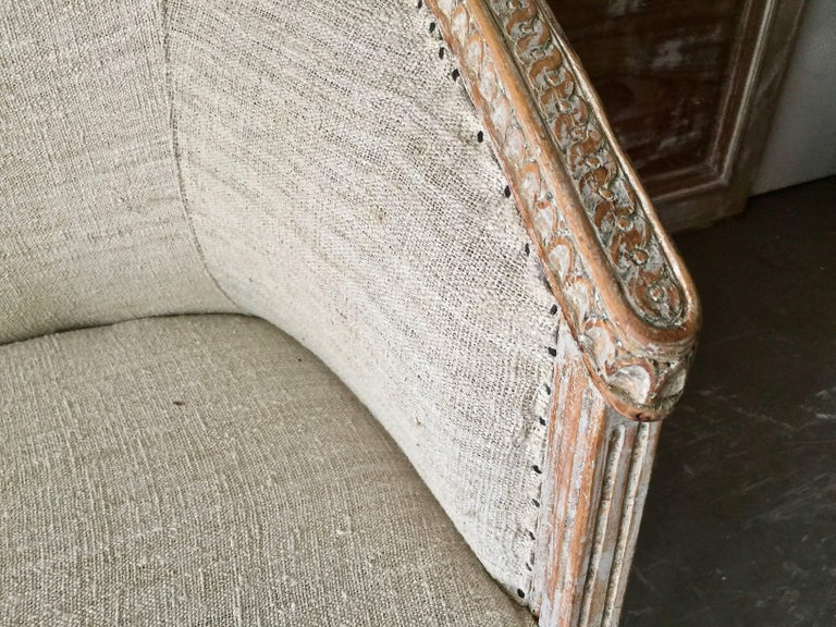 18th Century Period Swedish Barrel Back Sofa Settee 7