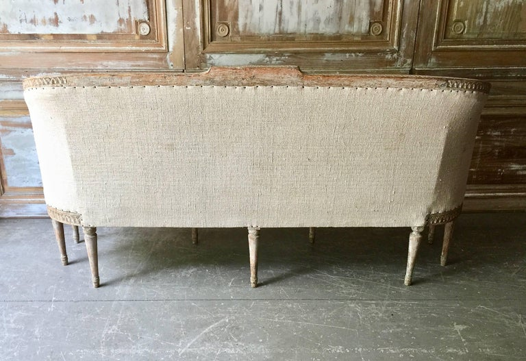 18th Century Period Swedish Barrel Back Sofa Settee 8