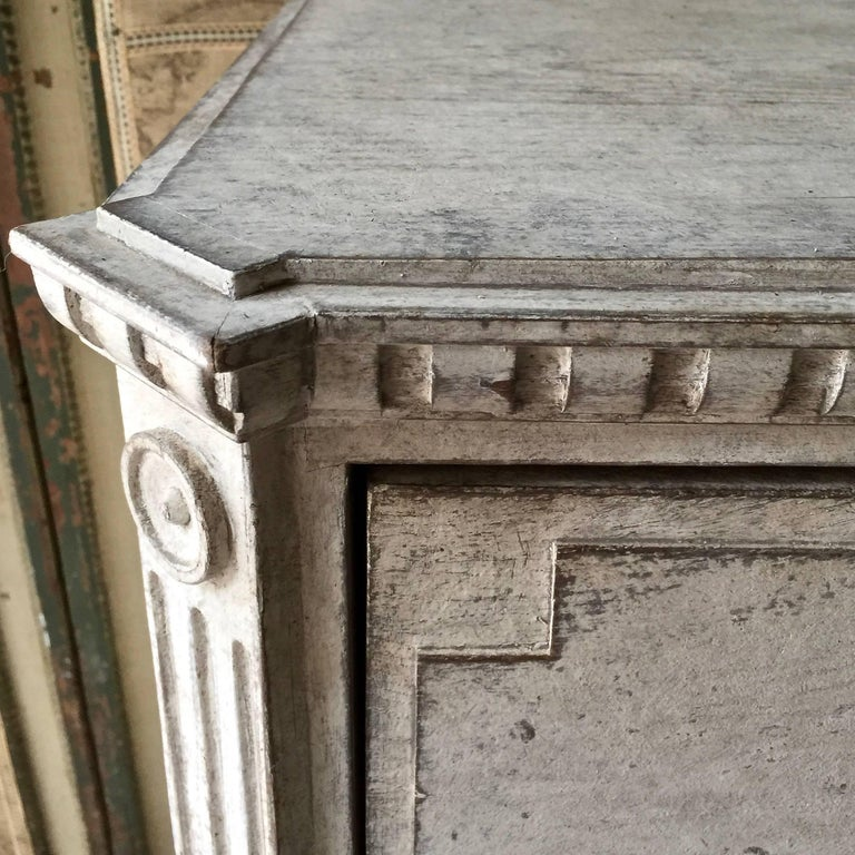 Hand-Carved 19th Century Gustavian Period Chest of Drawers For Sale