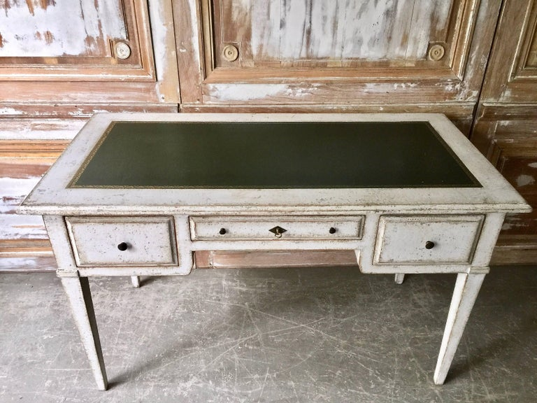 French 19th Century Painted Bureau Plat For Sale