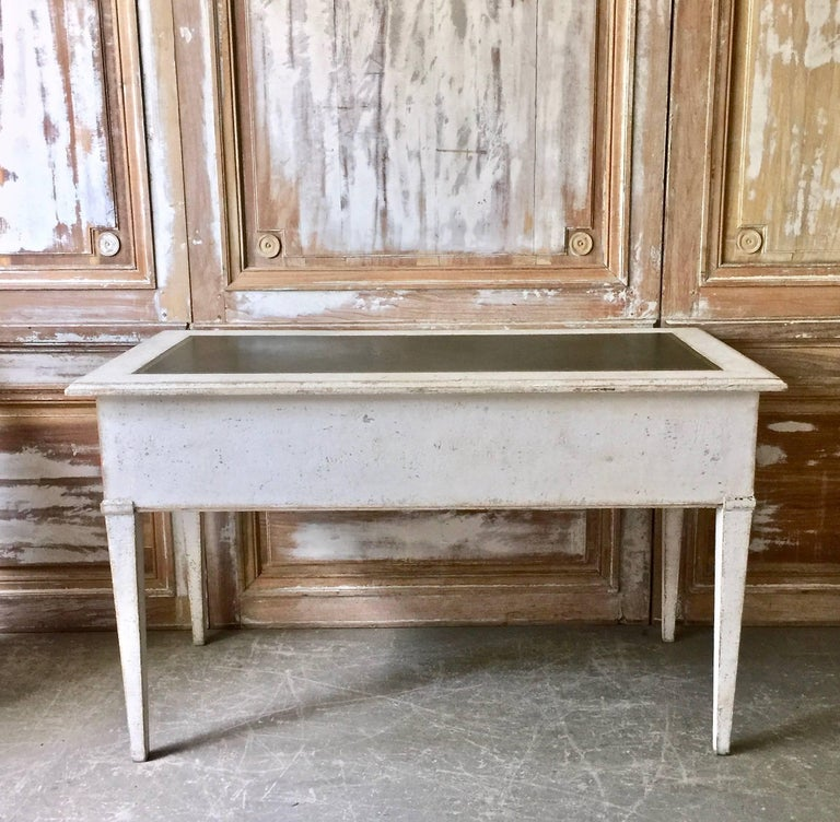 Hand-Carved 19th Century Painted Bureau Plat For Sale